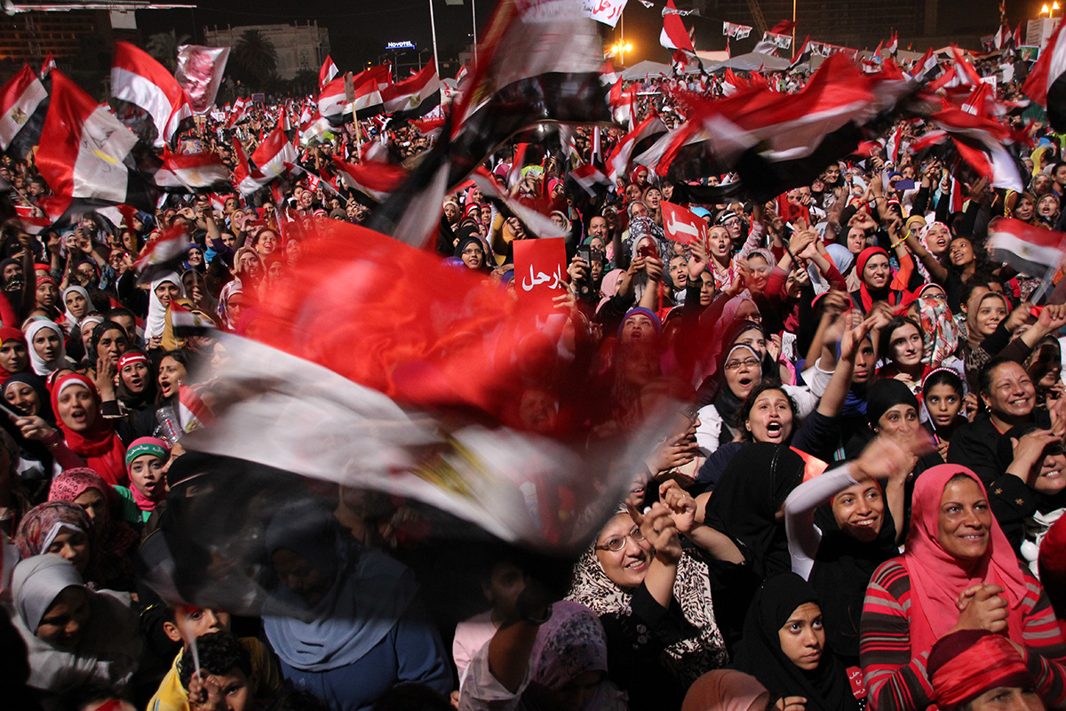 celebration tahrir sqare after election egypt