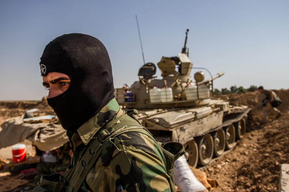 peshmerga tank iraq mask
