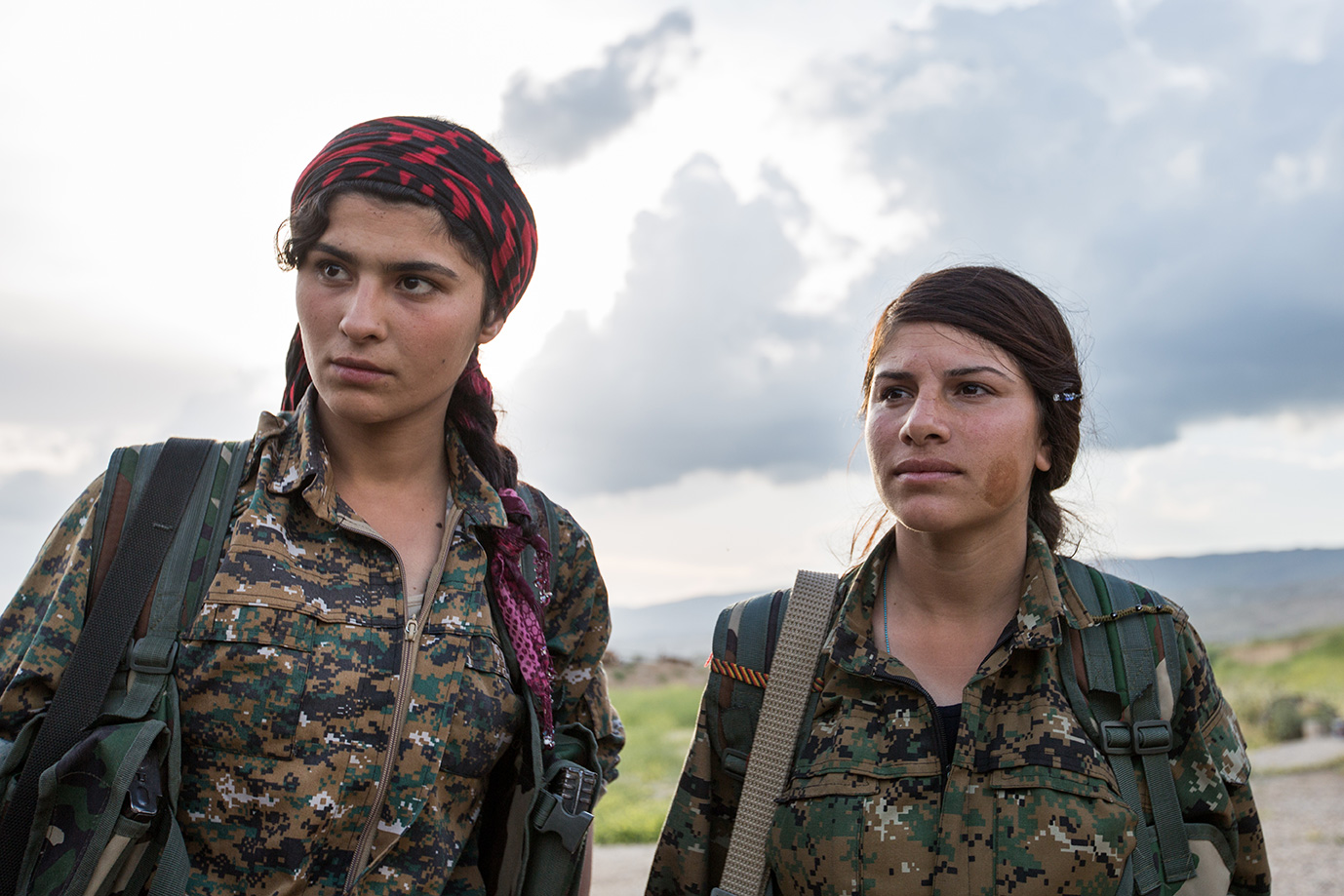 female yesidi fighter iraq sinjar
